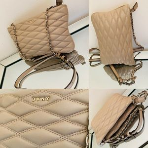 💫🔥🔥🛍🛍💯 DKNY Nappa Leather Quilted Cross Body